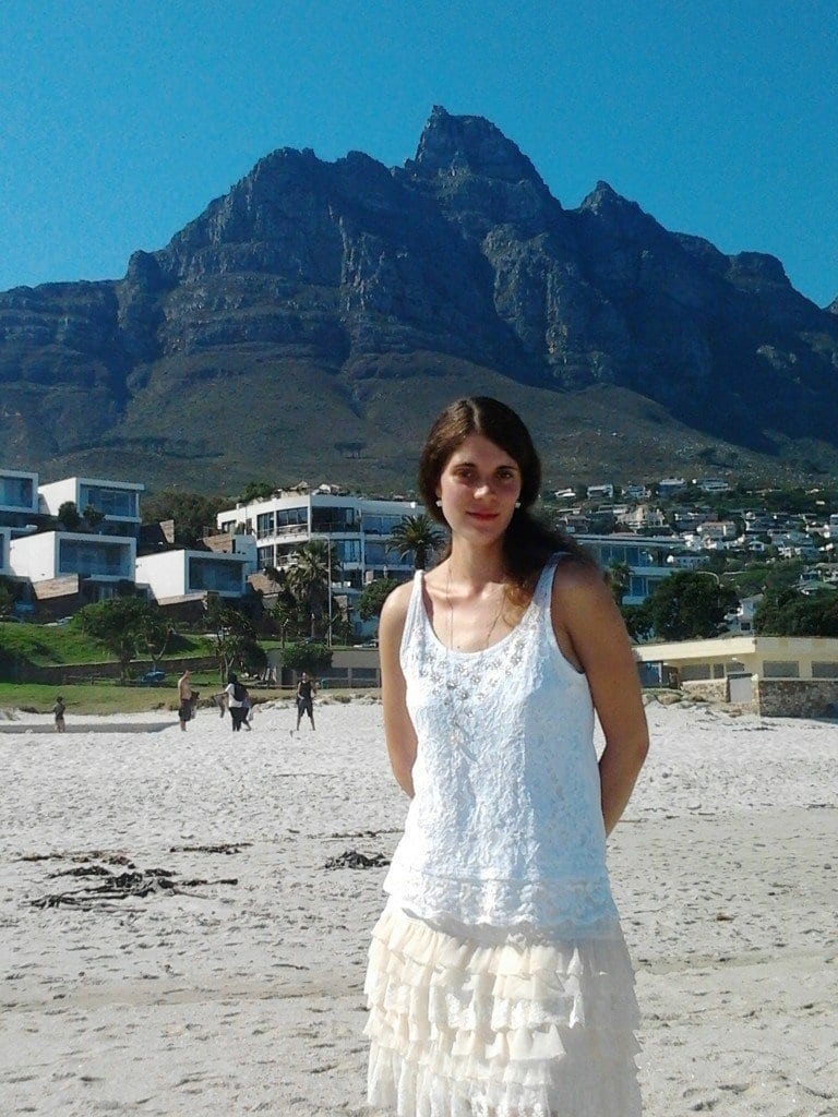 Tammy with Twelve Apostles Behind