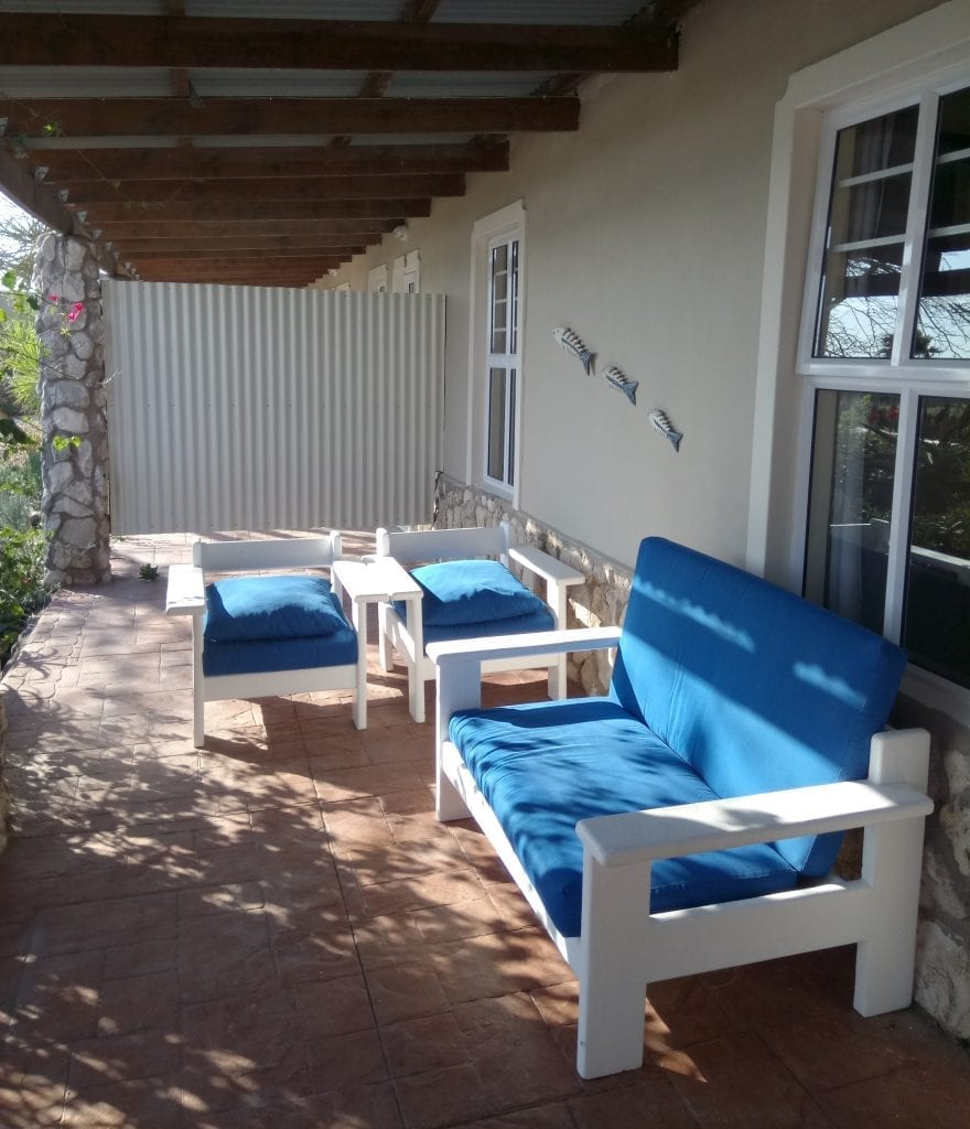 masada guest house self-catering cottage porch